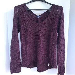 Grape American Eagle sweater